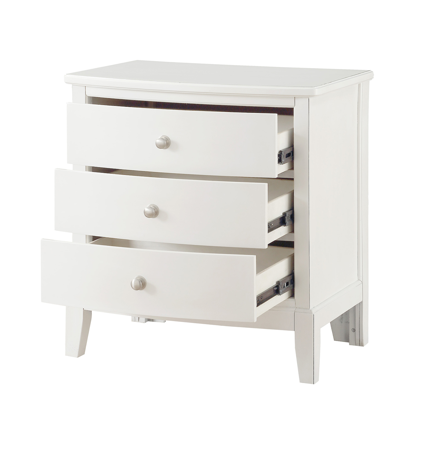 Homelegance Cotterill Night Stand - White Finish over Birch Veneer