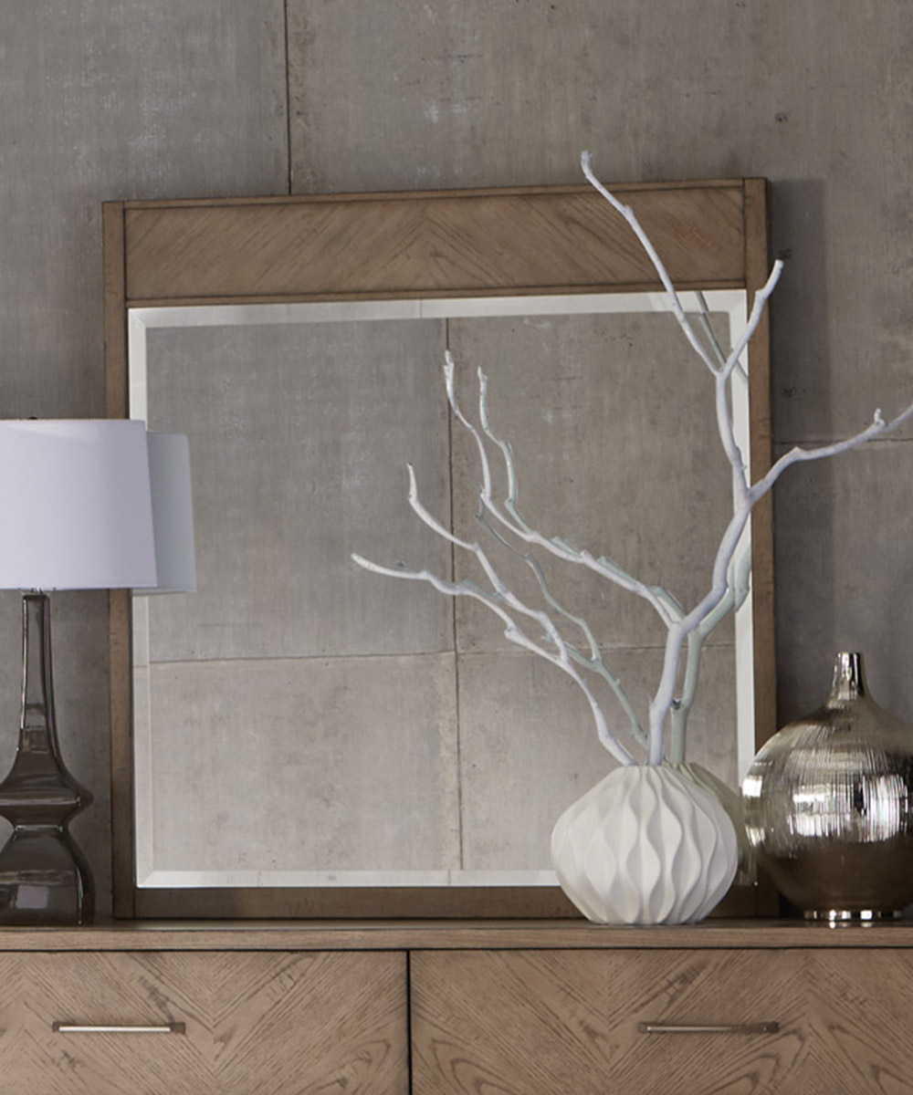 Homelegance Liatris Mirror - Acacia Veneer with Gray Undertone