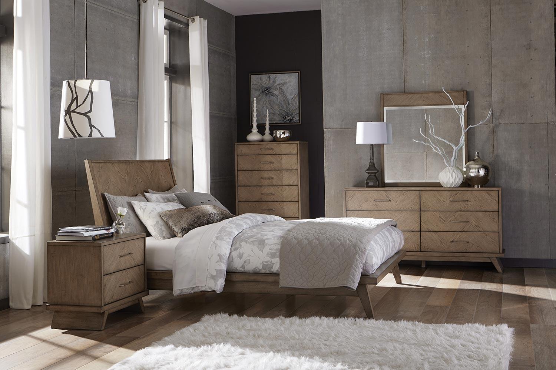 Homelegance Liatris Bedroom Set - Acacia Veneer with Gray Undertone