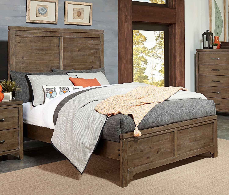 Homelegance Lyer Panel Bed - Rustic Brown