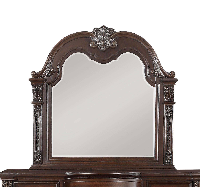 Homelegance Cavalier Mirror - Dark Cherry