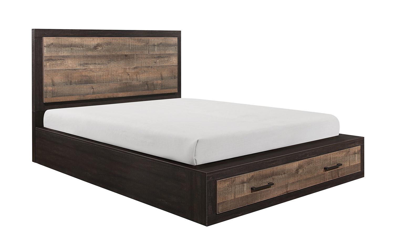 Homelegance Miter Platform Bed - Mahogany & Ebony