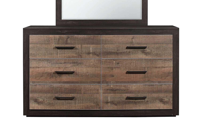 Homelegance Miter Dresser - Mahogany & Ebony