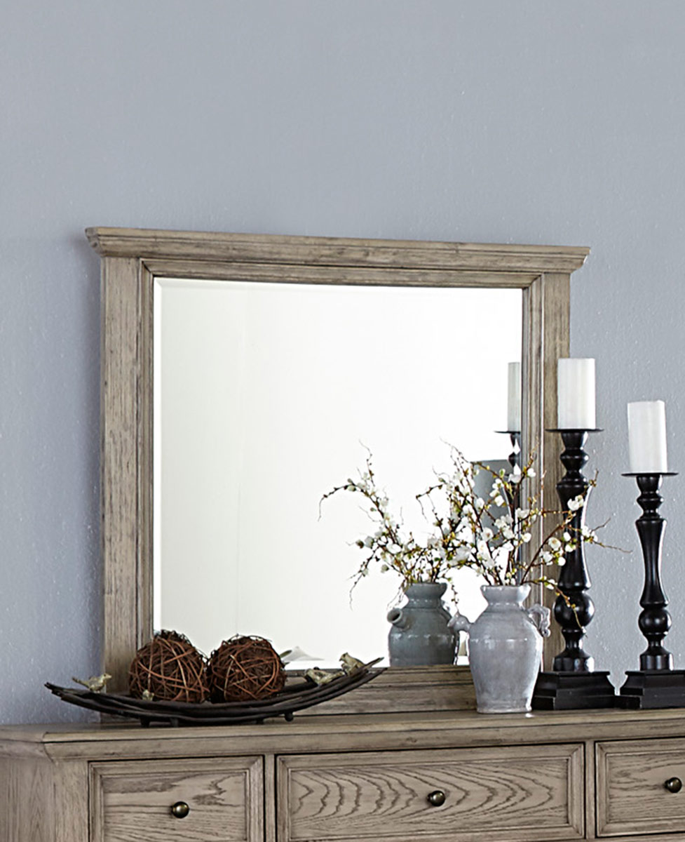 Homelegance Barbour Mirror - Whitewash Finish over Oak Veneers