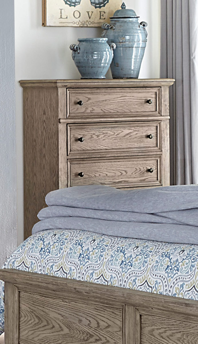 Homelegance Barbour Chest - Whitewash Finish over Oak Veneers