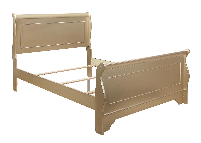 Homelegance Abbeville Bed - Gold