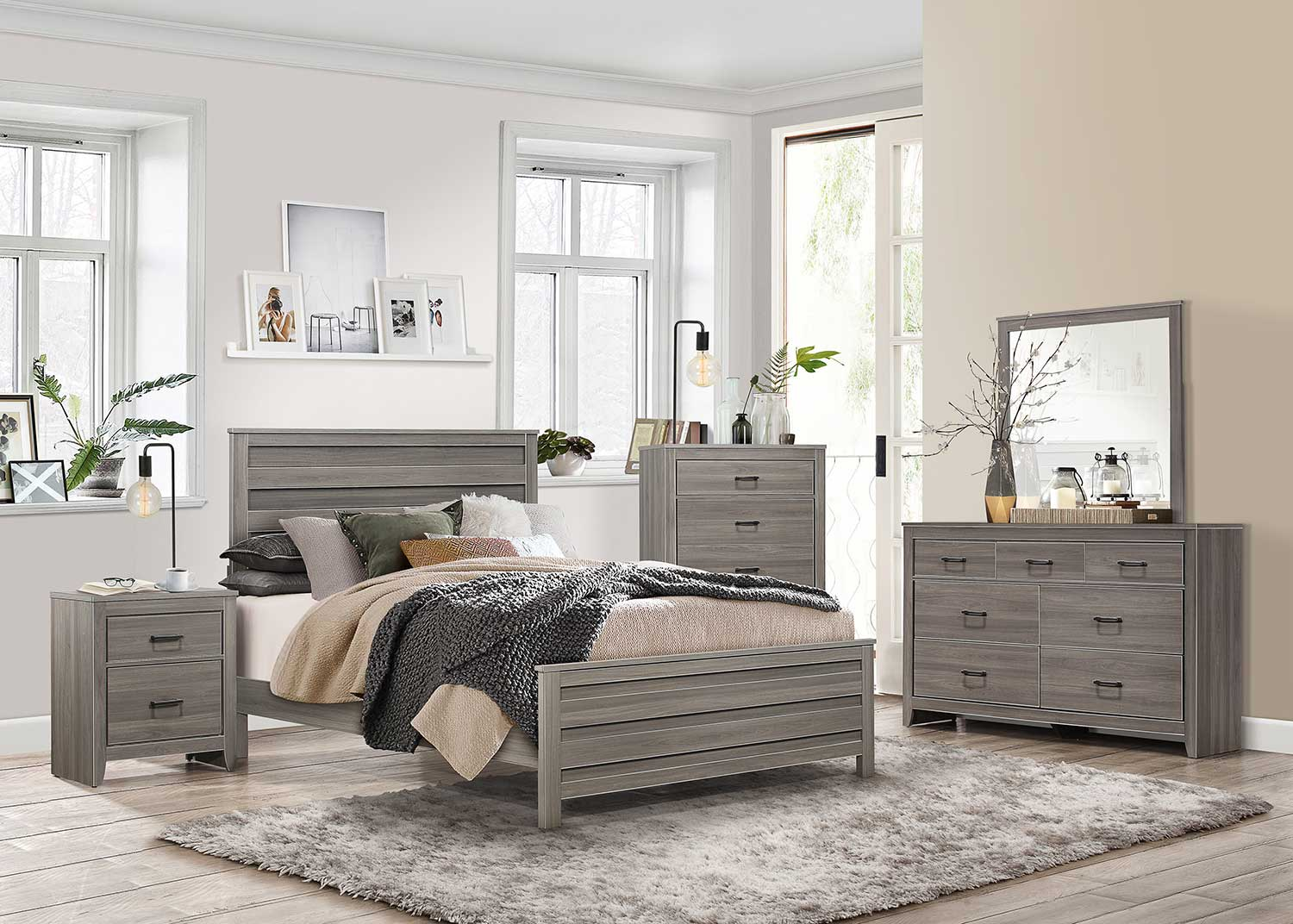 Homelegance Waldorf Bedroom Set - Gray Tone