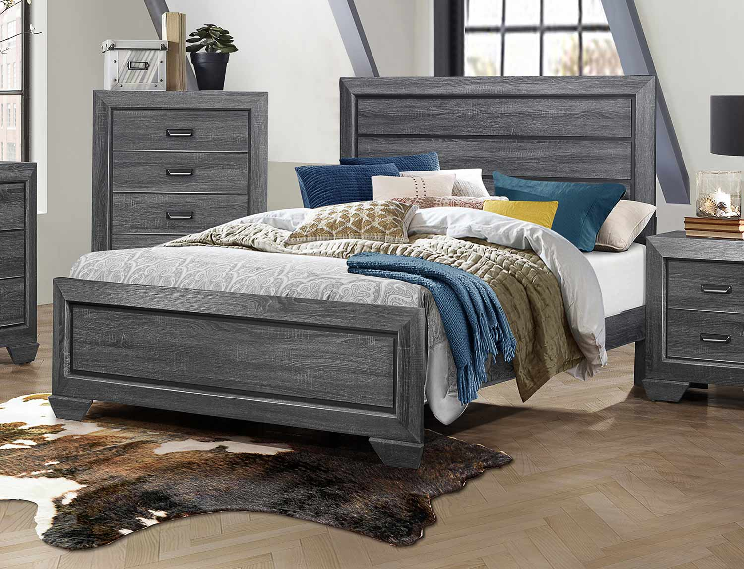 Homelegance Beechnut Bed - Gray