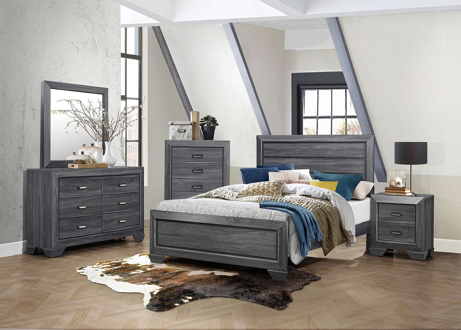 Homelegance Beechnut Bedroom Set - Gray