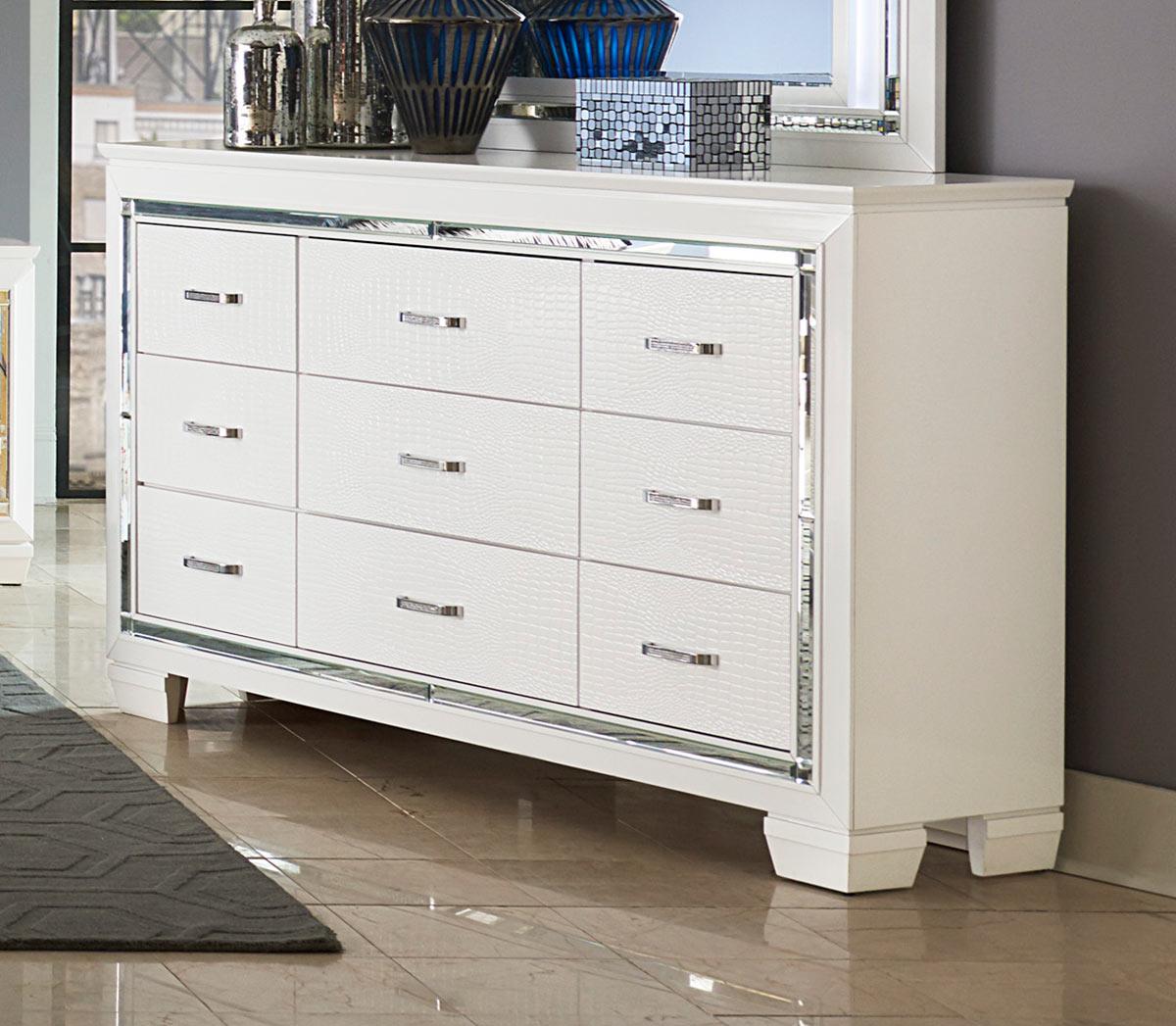 Homelegance Allura Dresser - White