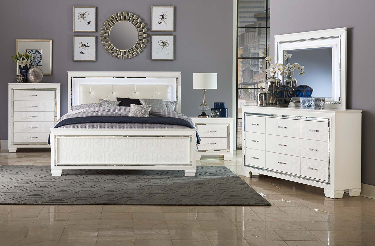 Homelegance Allura Bedroom Set - White