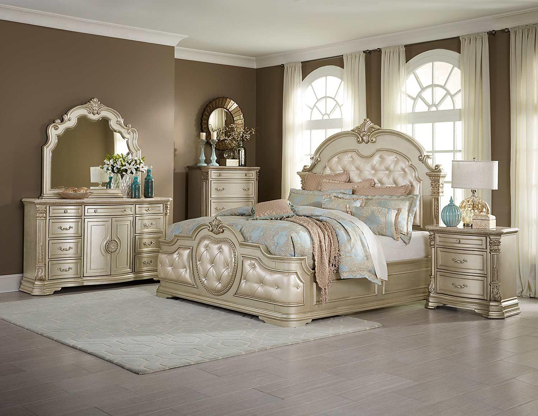 Homelegance Antoinetta Bedroom Set - Champagne