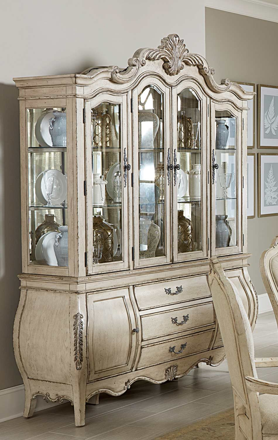 Homelegance Elsmere China Cabinet - Antique Grey