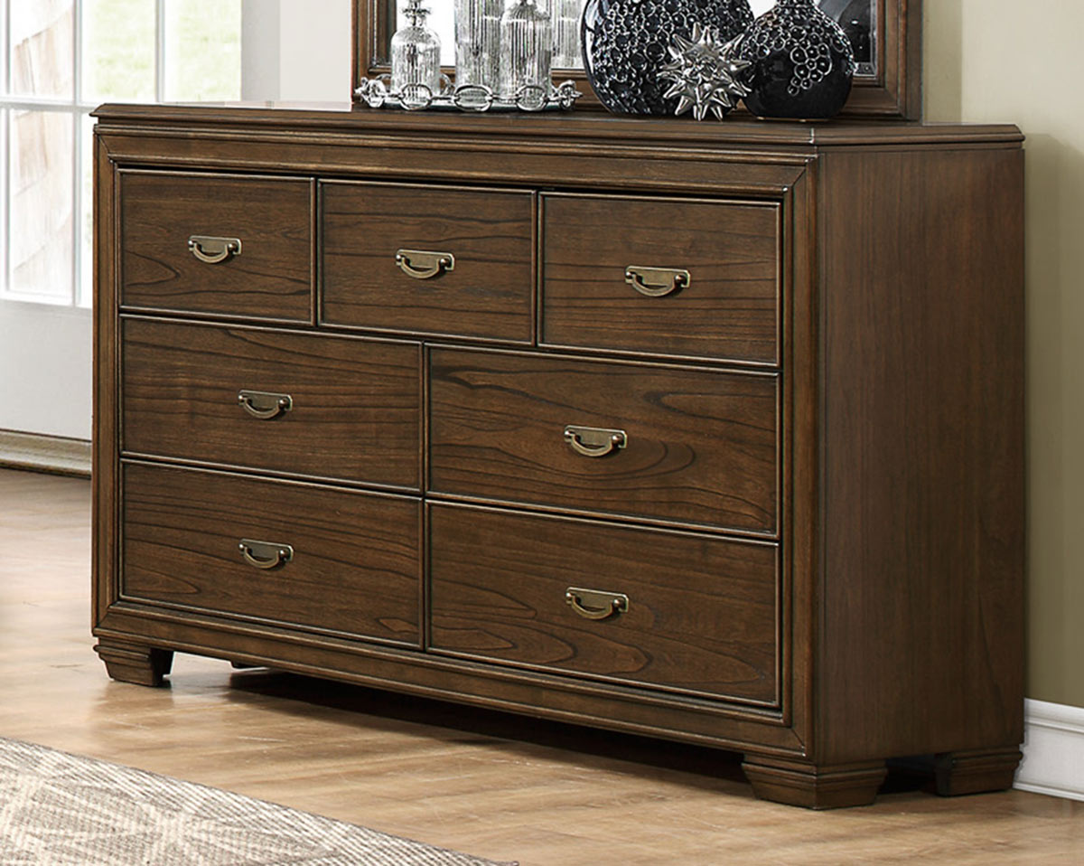 Homelegance Leavitt Dresser - Brown Cherry