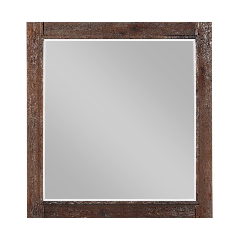 Homelegance Wrangell Mirror - Medium Cherry