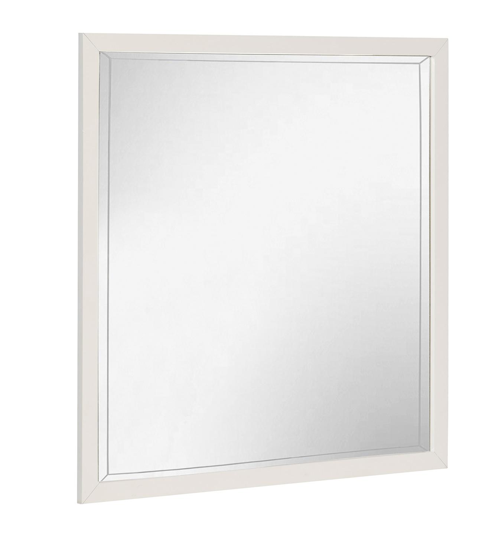 Homelegance Renly Mirror - Natural Finish of Oak Veneer with White Framing