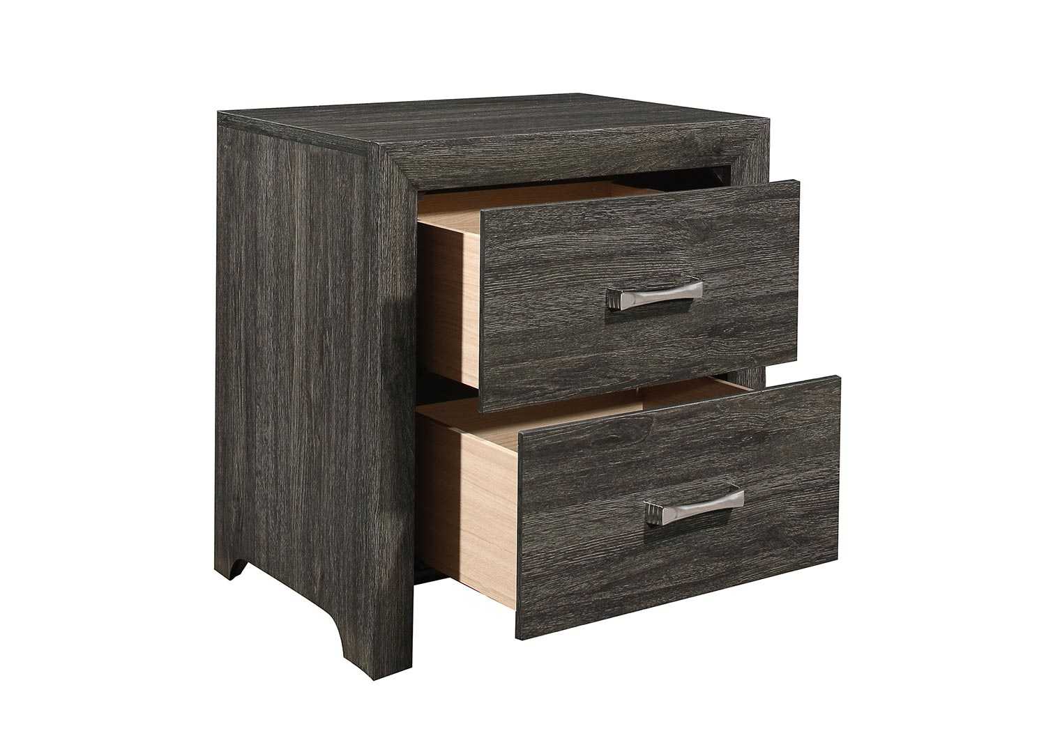 Homelegance Edina Night Stand - Brown-Gray
