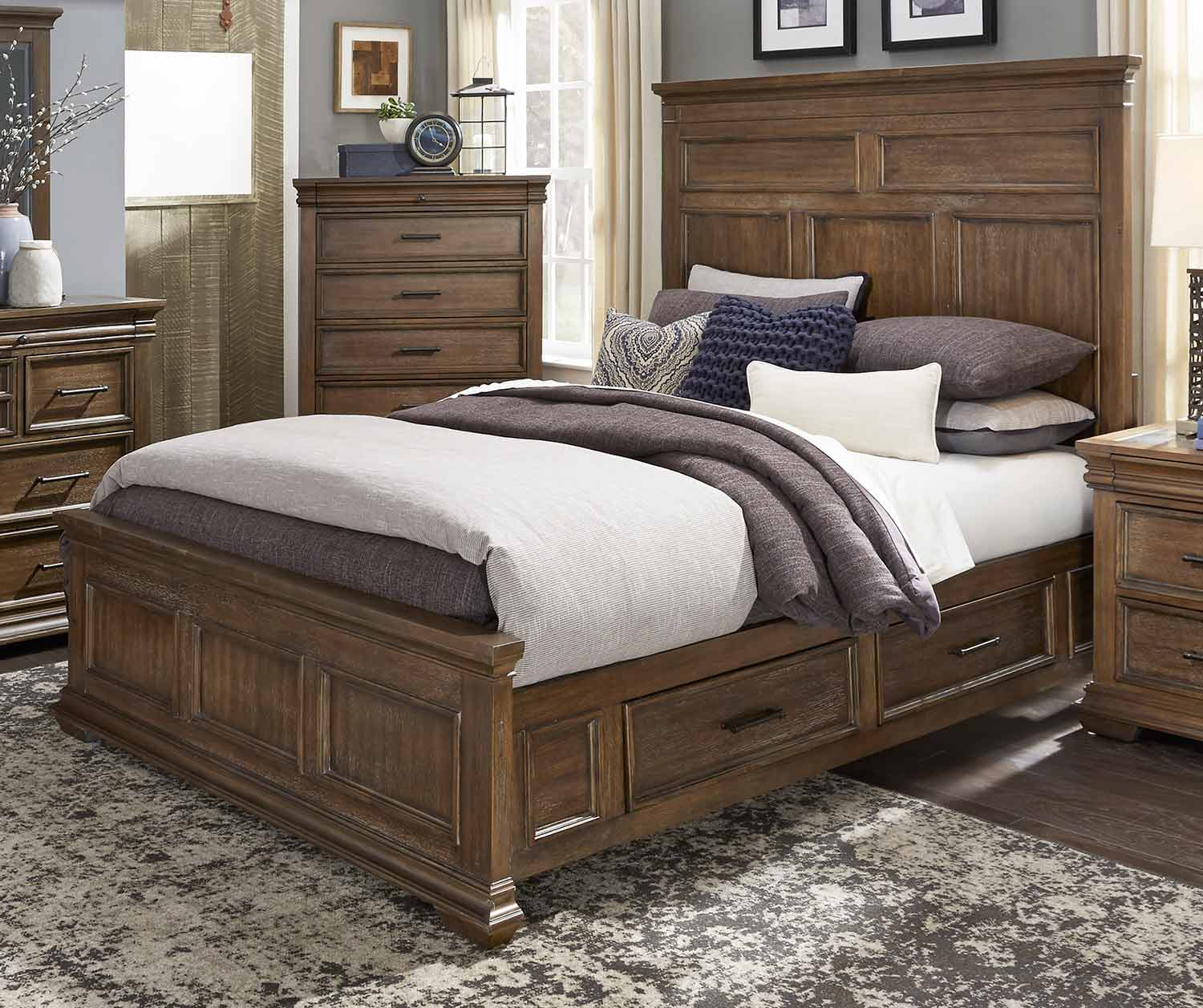 Homelegance Narcine Platform Bed with Storage Drawers