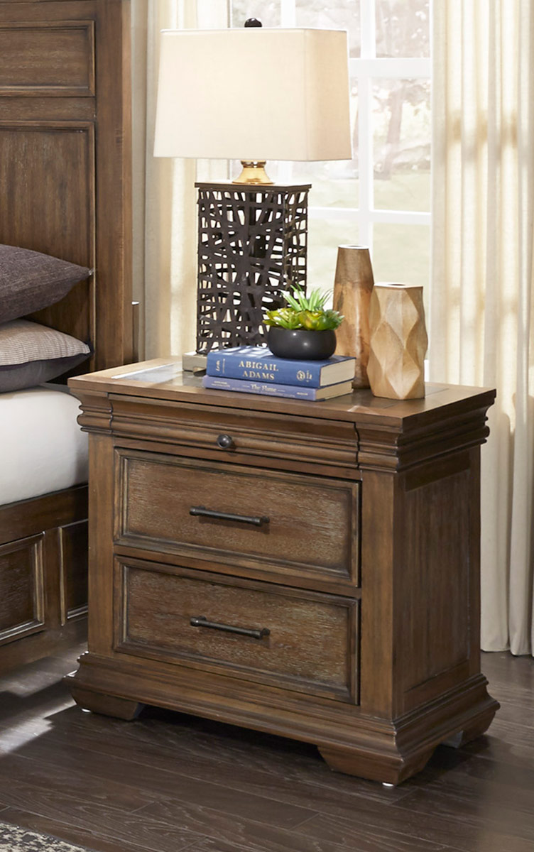 Homelegance Narcine Night Stand with Marble Insert