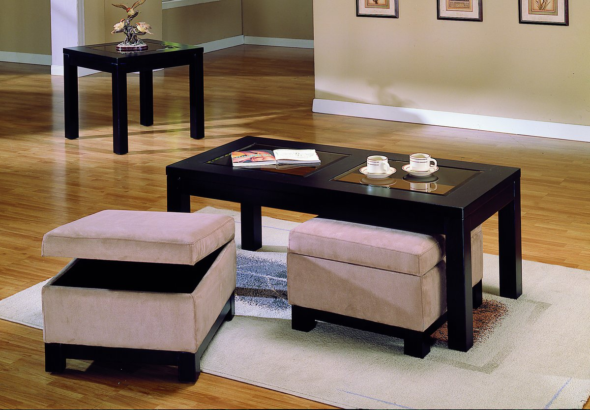 Homelegance Symphony Cocktail Table Ottoman Peat Microfiber 3218b 30