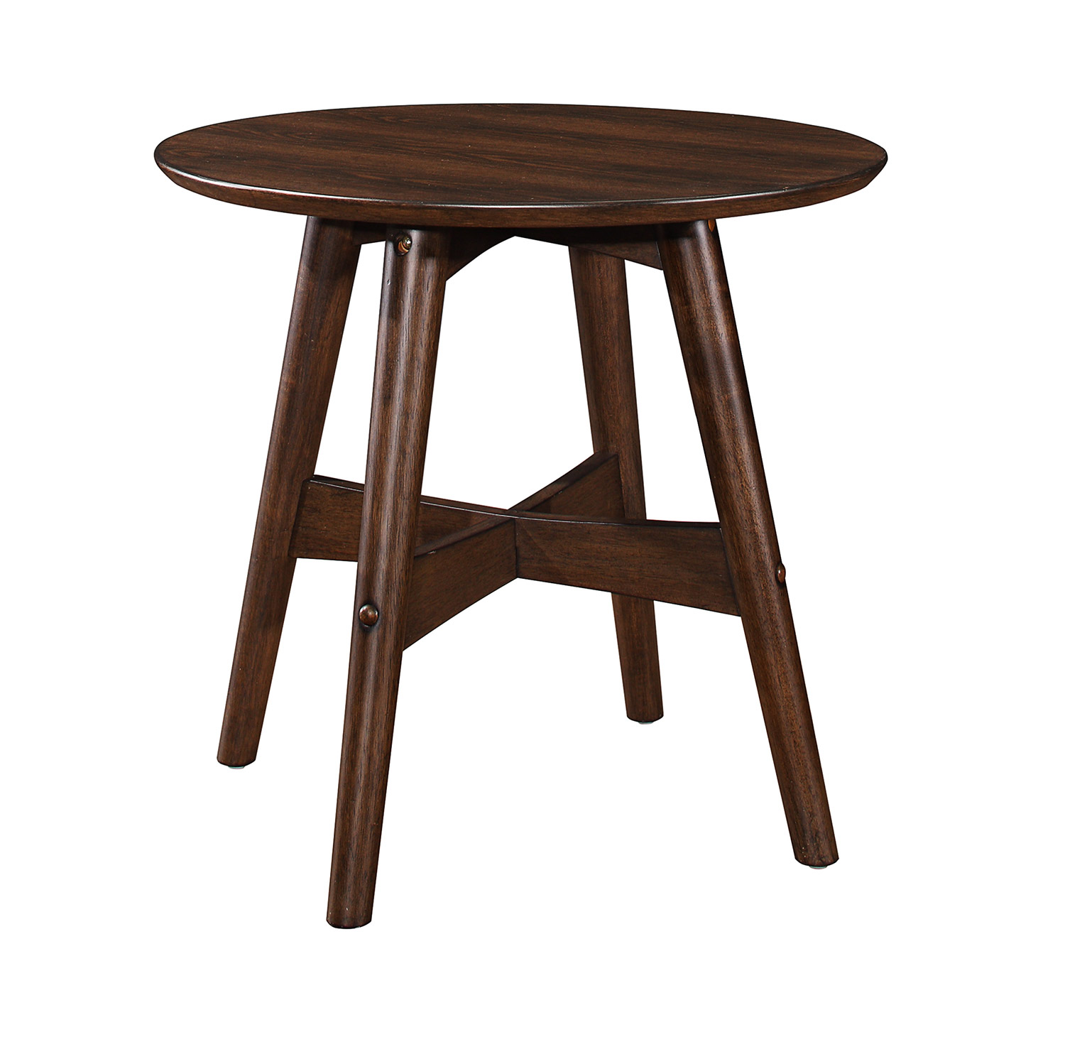 Homelegance Lhasa End Table - Warm Walnut