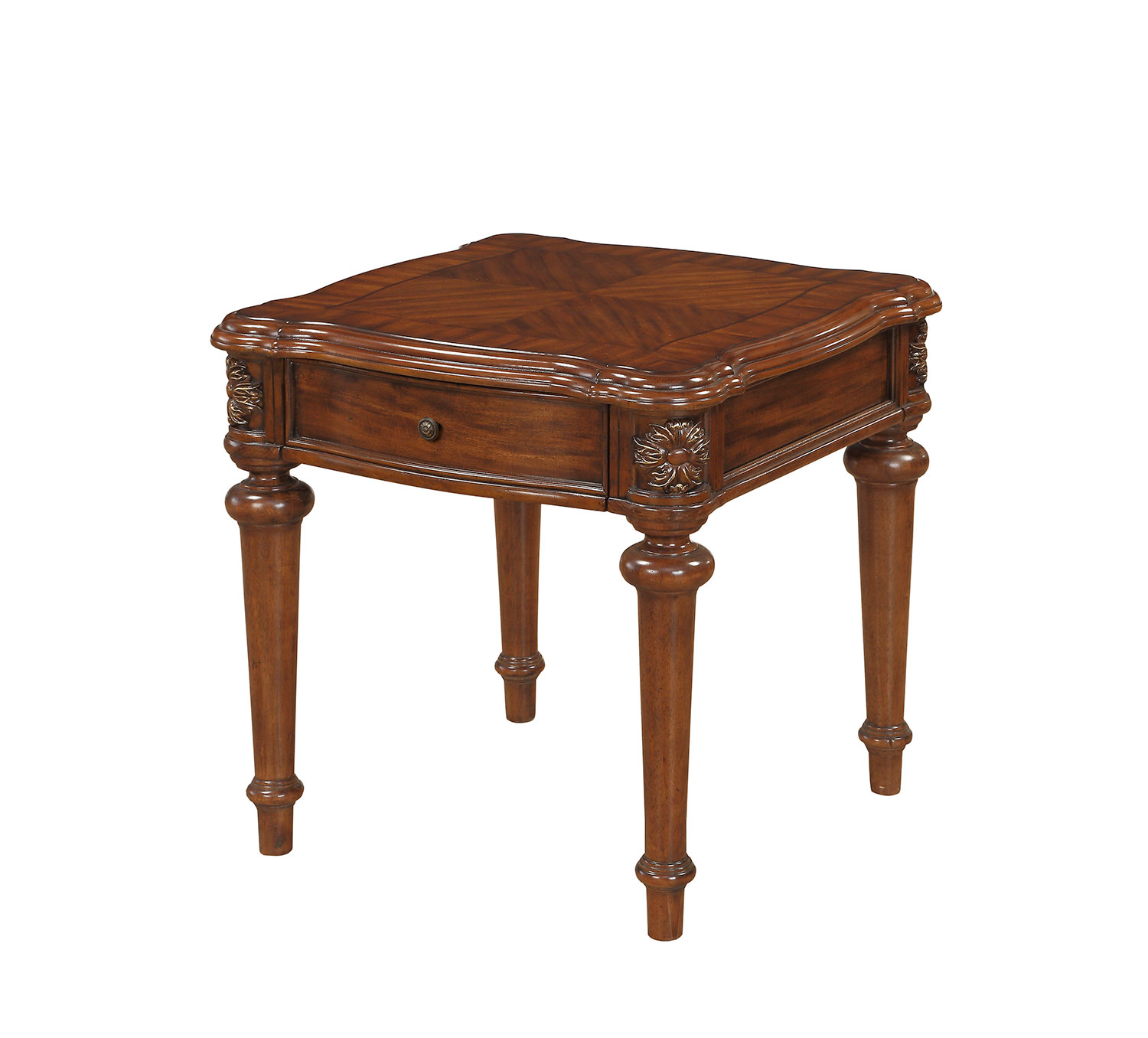 Homelegance Barbary End Table with Functional Drawer - Cherry