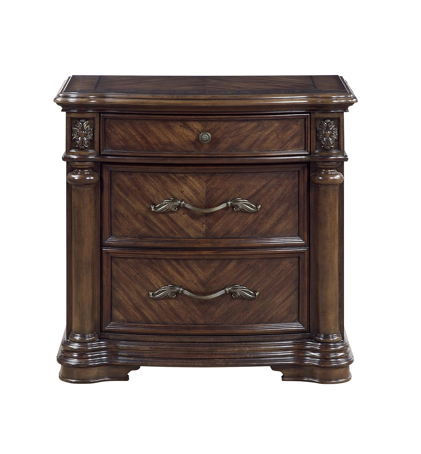 Homelegance Barbary Night Stand - Traditional Cherry