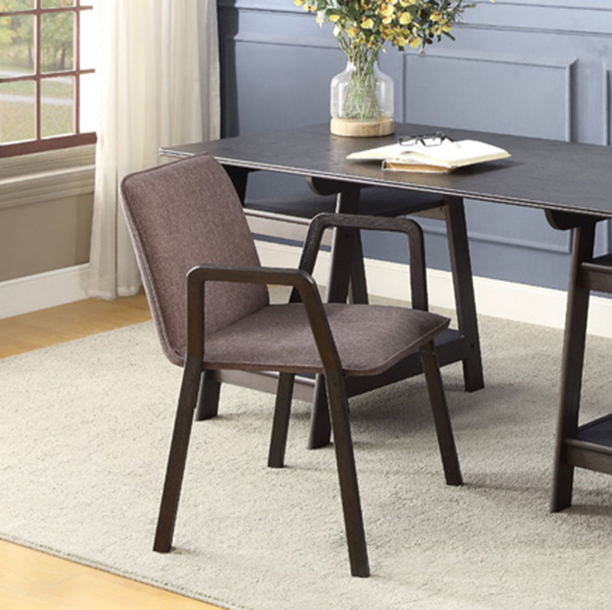 Homelegance Hilles Chair - Dark Charcoal