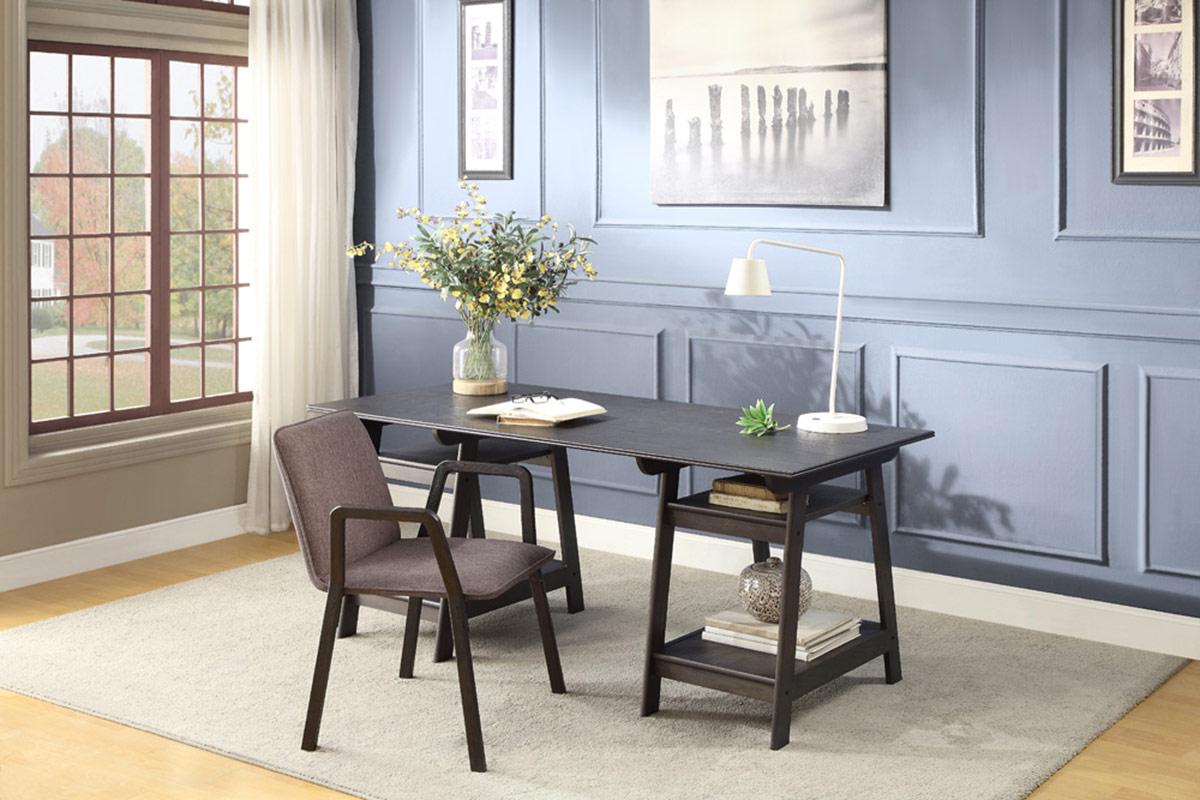 Homelegance Hilles Writing Desk Set - Dark Charcoal