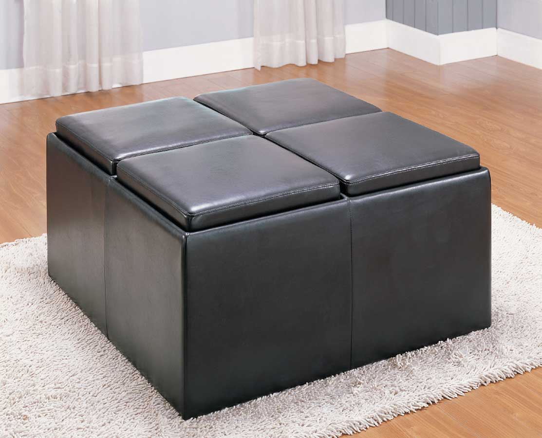 Homelegance Claire Storage Cocktail Ottoman
