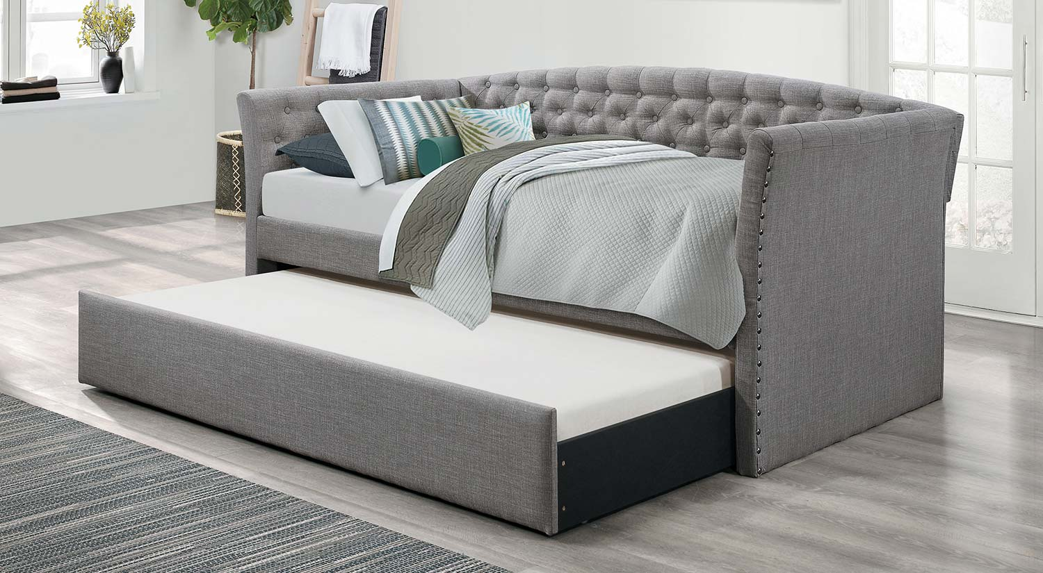 Homelegance Norwood Daybed with Trundle - Gray