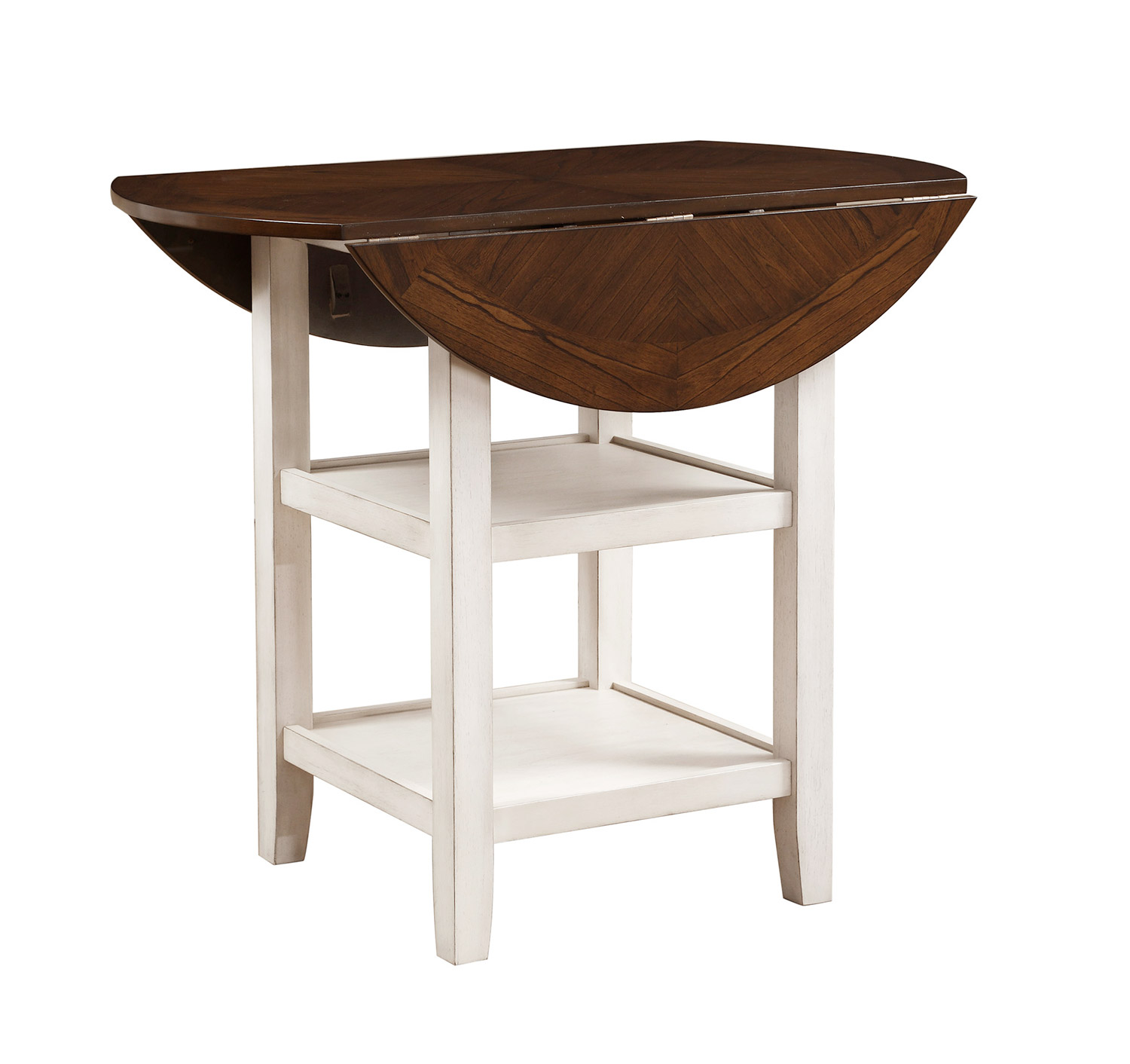 Homelegance Kiwi Counter Height Drop Leaf Table - White Wash - Dark Cherry