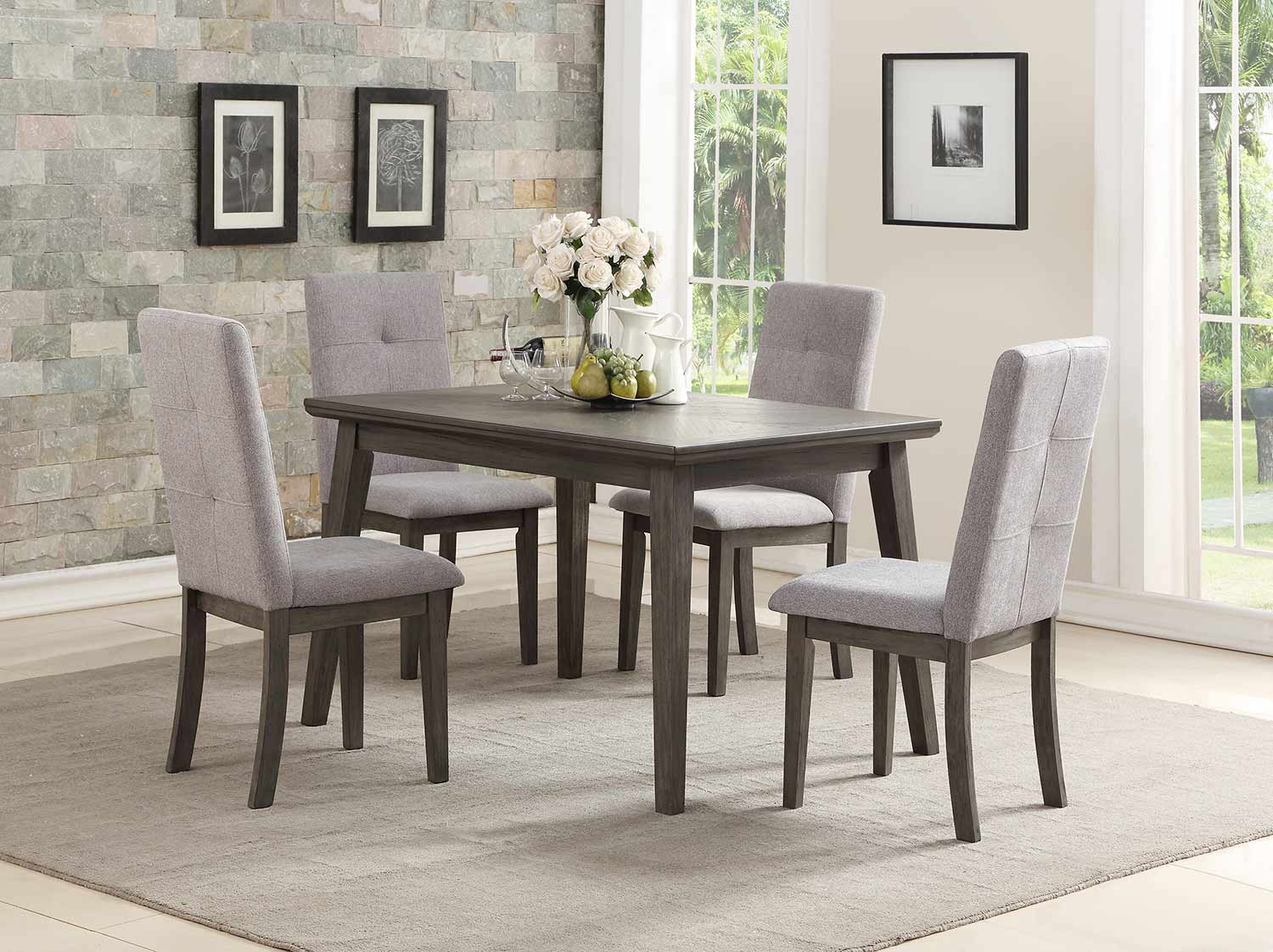 Homelegance University Dining Set - Gray