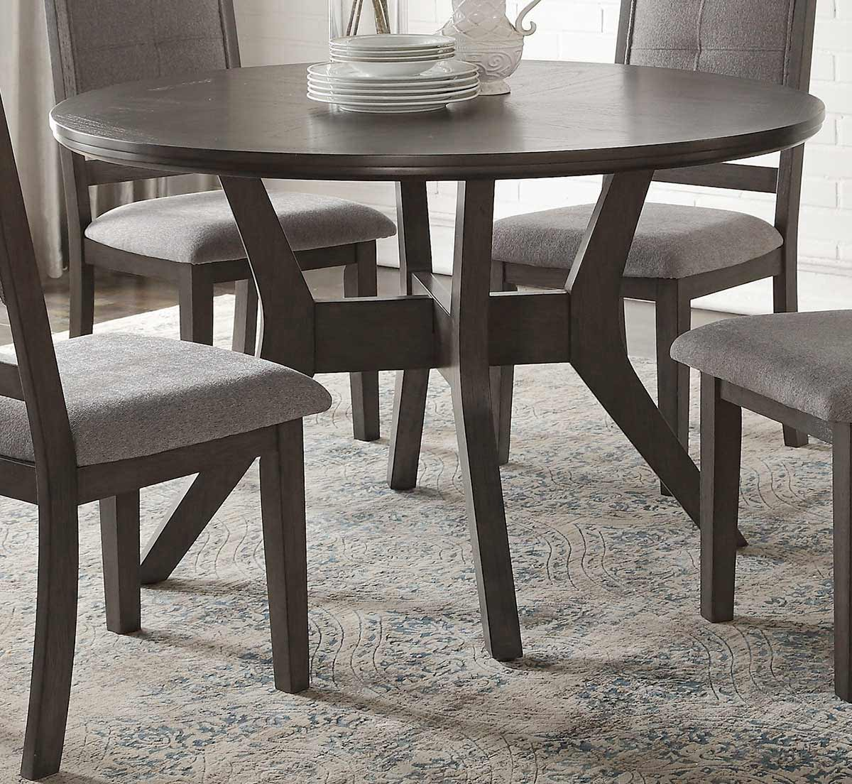 Homelegance Nisky Round Dining Table - Gray
