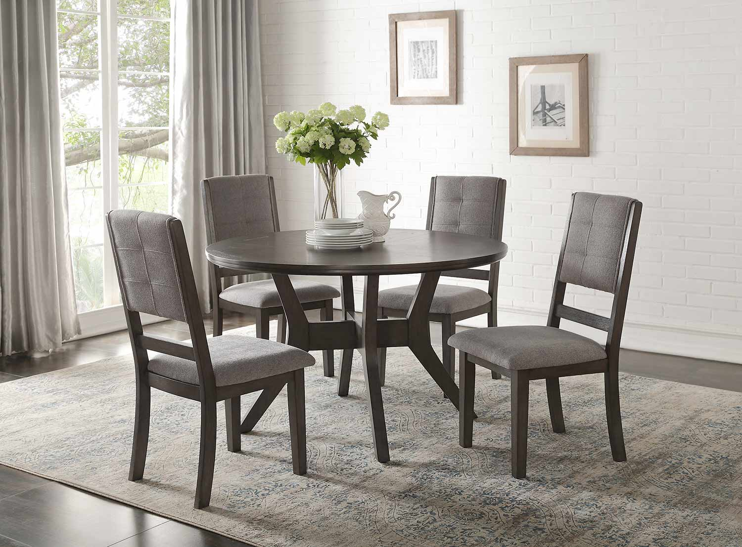 Homelegance Nisky Dining Set - Gray