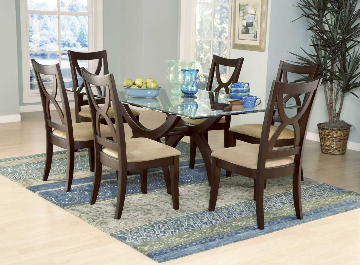 Homelegance Stardust Rect Glass Dining Table 5312-72 ...