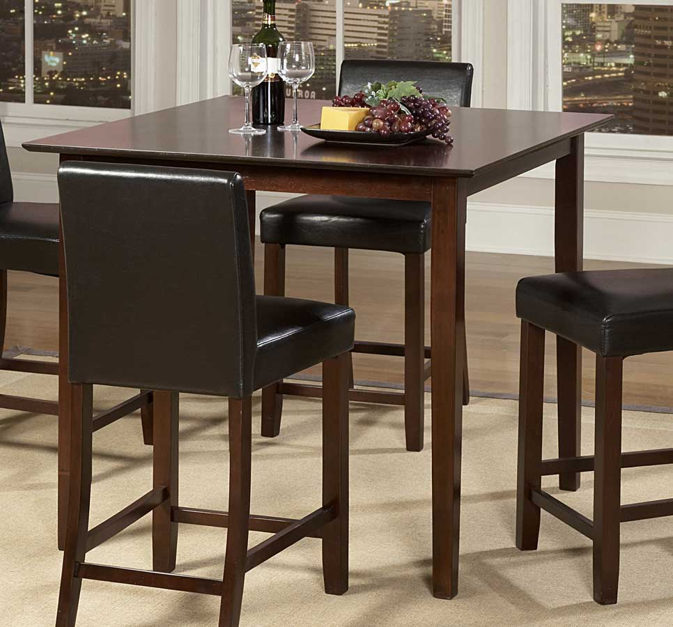 Homelegance weitzmenn counter height dining table 5350 36 for Tall dinner table set
