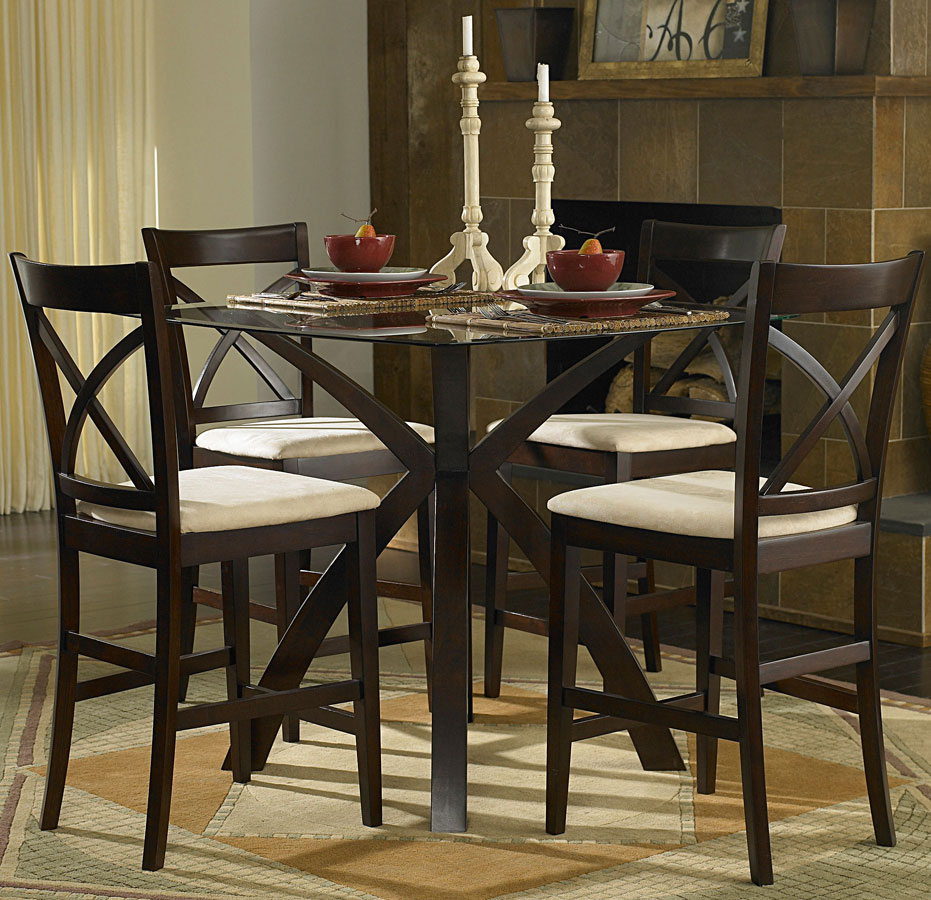 Homelegance Cantor 5-Piece Counter Height Dining Set & Homelegance Cantor 5-Piece Counter Height Dining Set 5380-36 ...