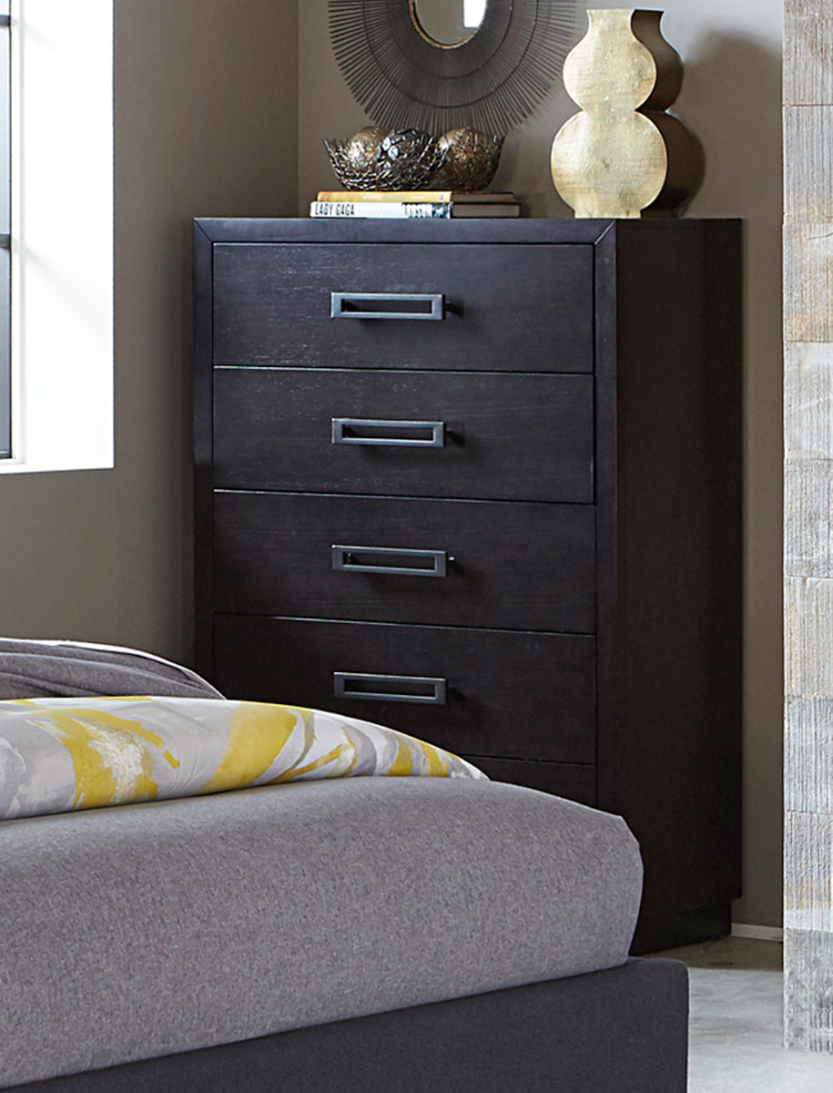 Homelegance Larchmont Chest - Charcoal Finish over Ash Veneer