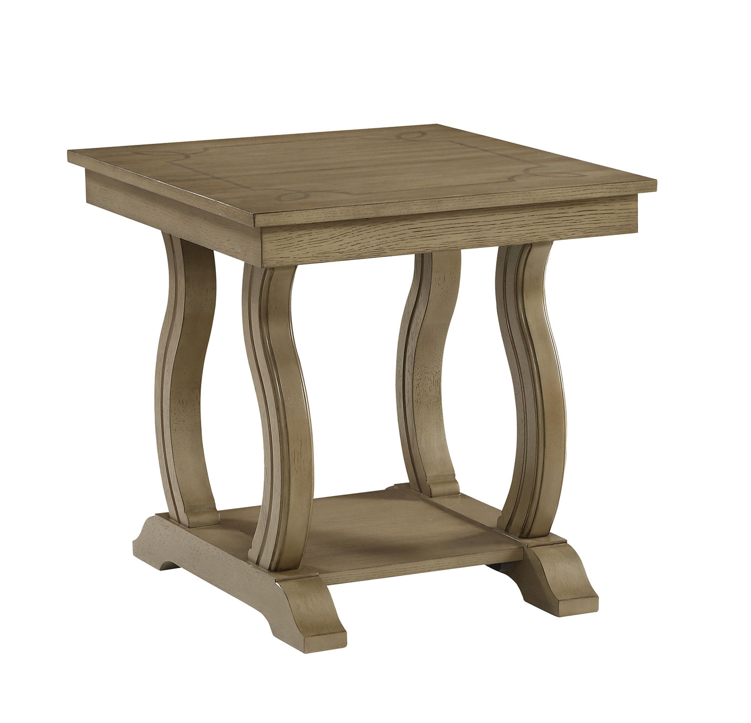 Homelegance Vermillion End Table - Bisque