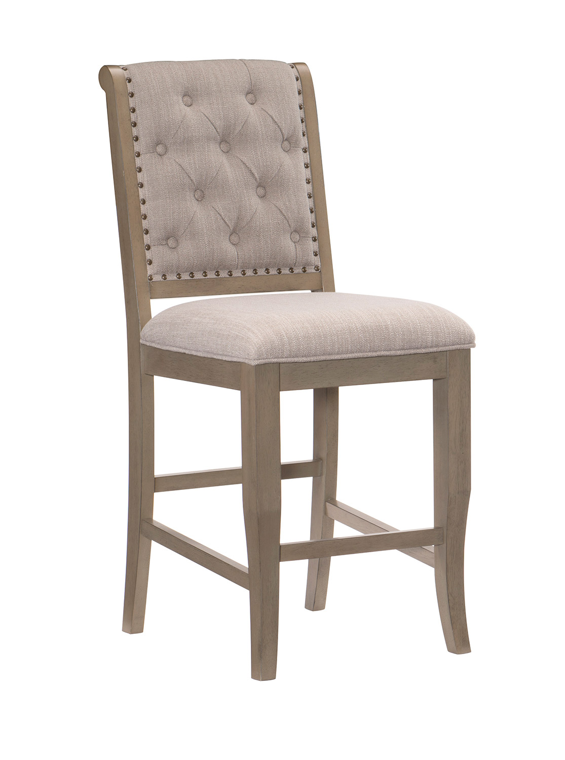 Homelegance Vermillion Counter Height Chair - Bisque