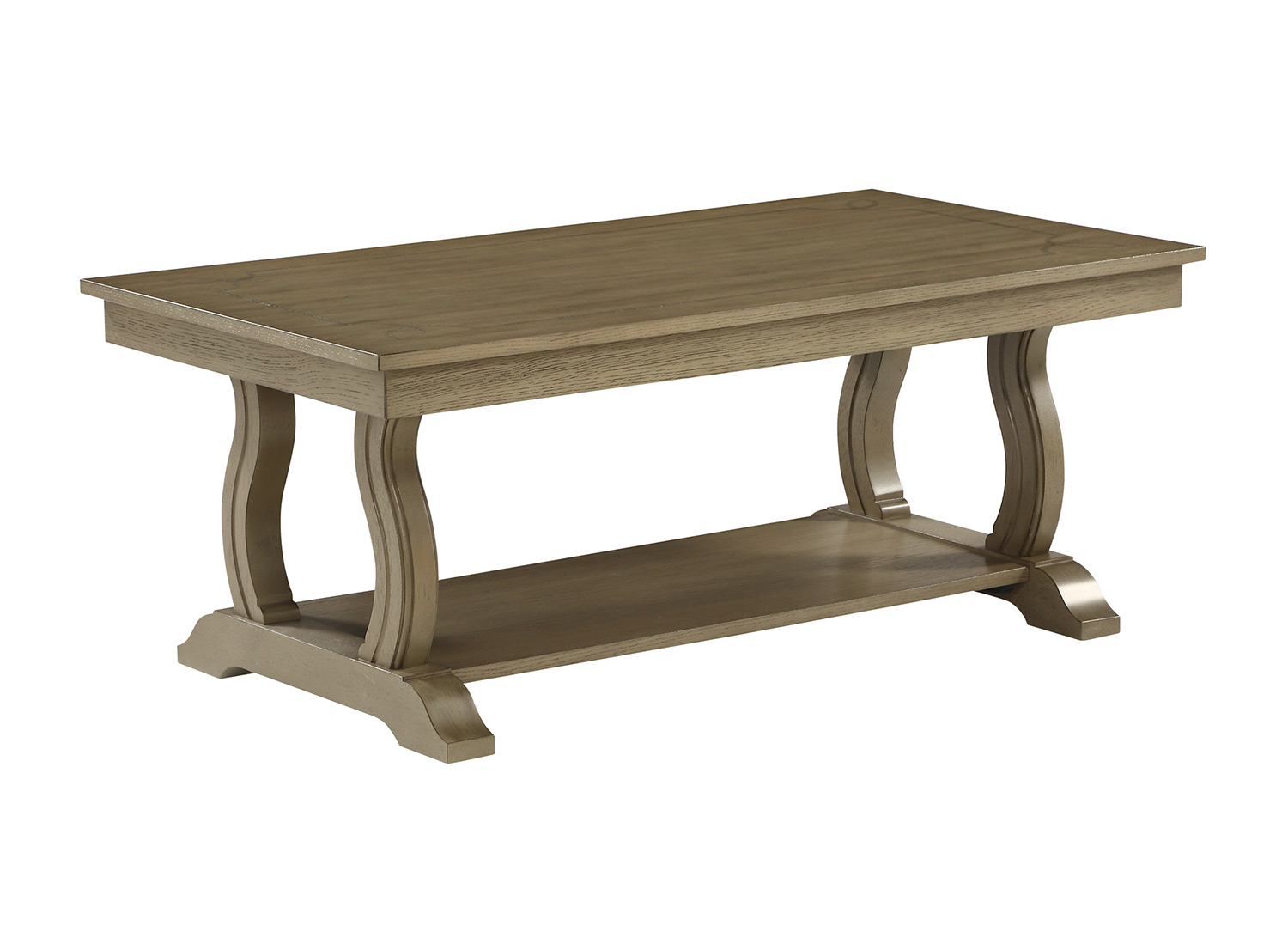 Homelegance Vermillion Cocktail Table - Bisque