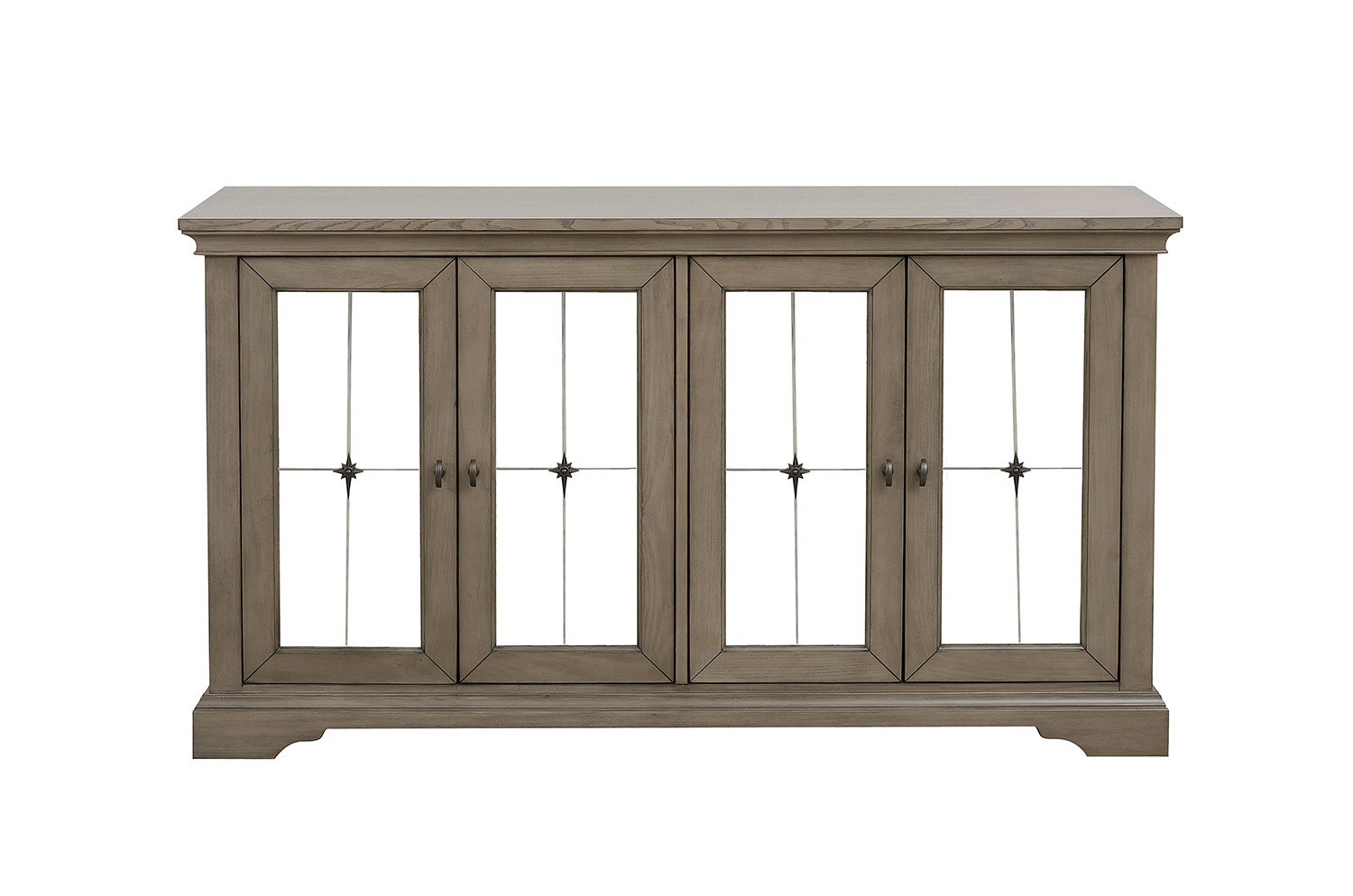 Homelegance Vermillion Server with Mirrored Door - Bisque