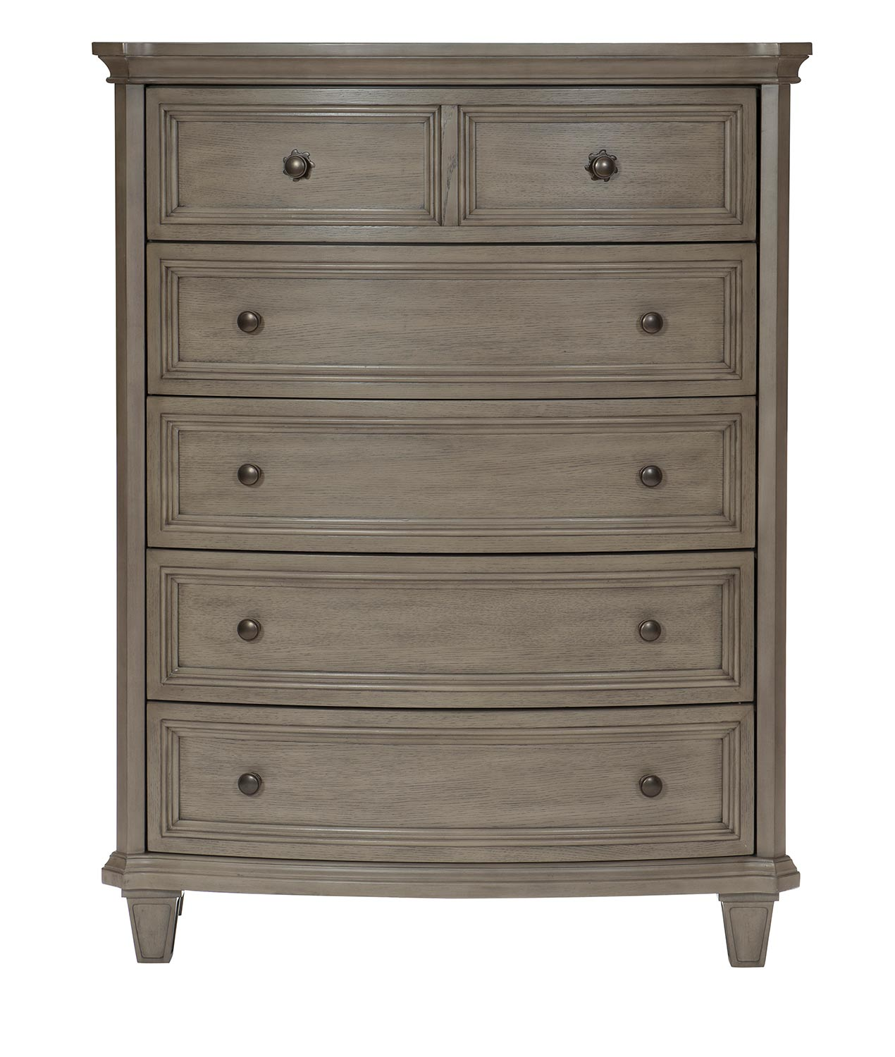 Homelegance Vermillion Chest - Bisque Finish with Oak Veneer