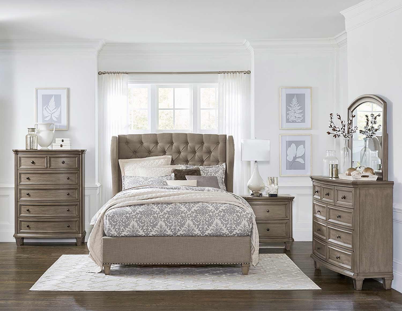 Homelegance Vermillion Bedroom Set - Bisque Finish with Oak Veneer