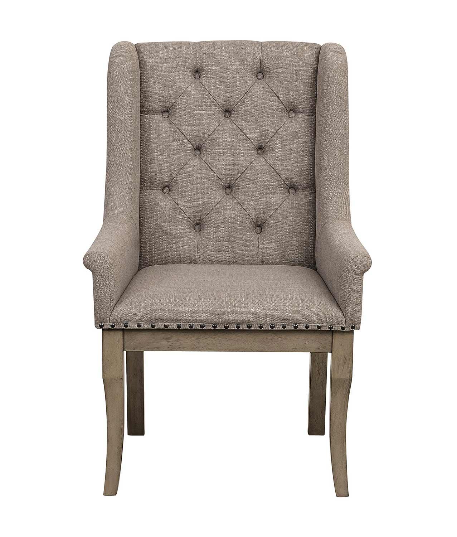 Homelegance Vermillion Arm Chair - Bisque