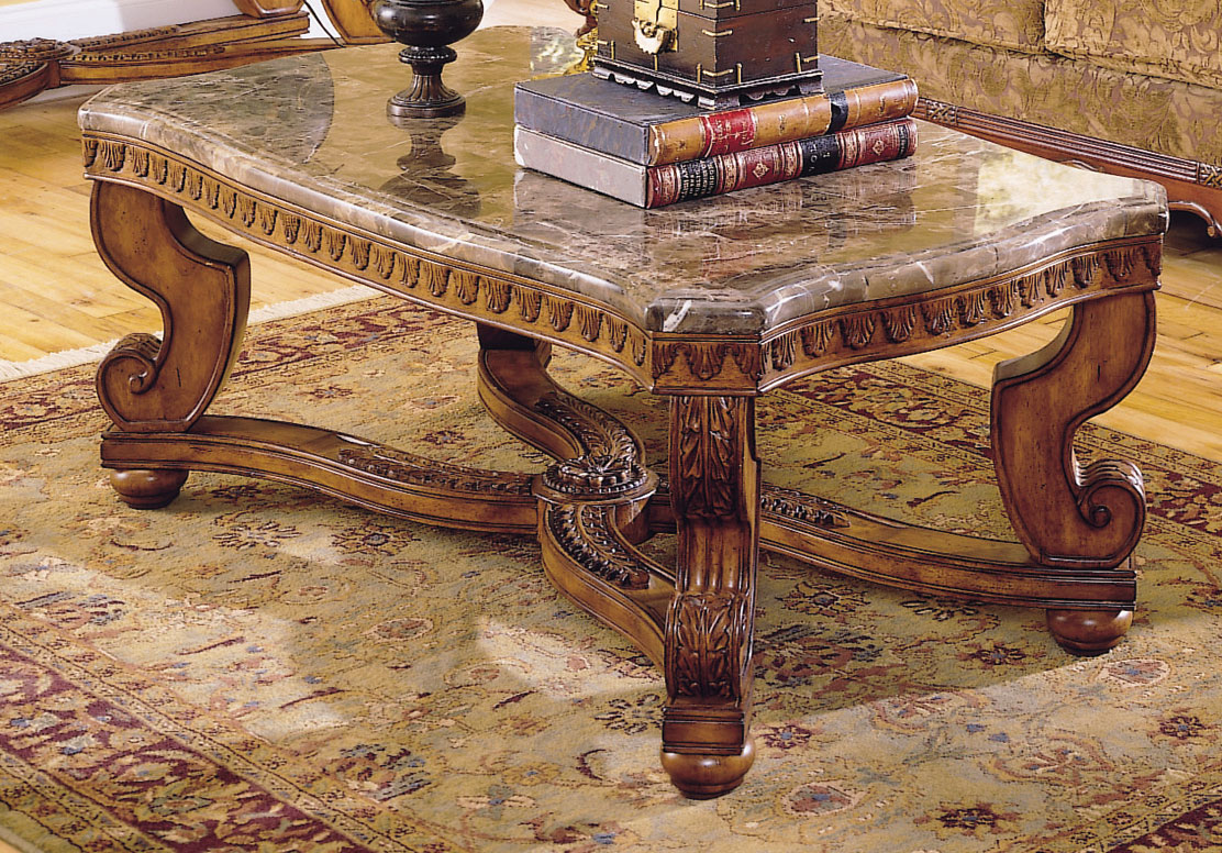 Homelegance Tarantula Cocktail Table Marble Top 5543 30