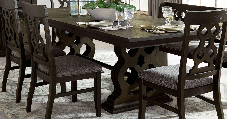 Homelegance Arasina Dining Table - Dark Pewter
