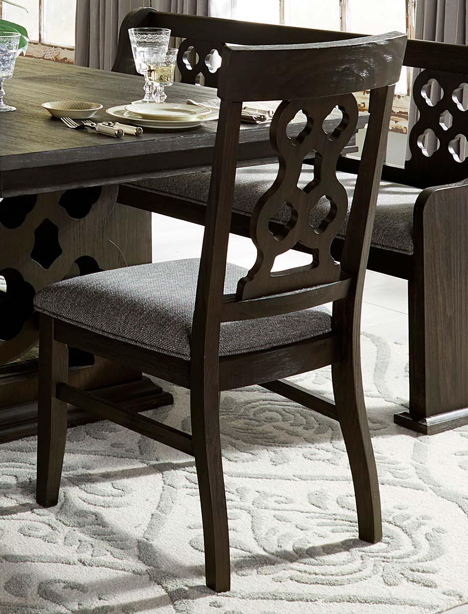Homelegance Arasina Side Chair - Dark Pewter