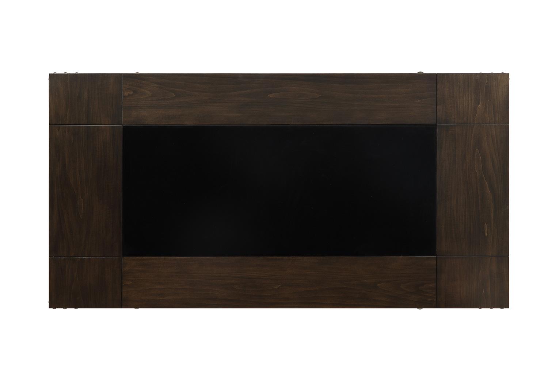Homelegance Appert Counter Height Table - Black Glass - Black Bi-Cast Vinyl